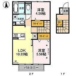 (仮)D-room川中島(川中島町四ツ屋)[202号室号室]の間取り