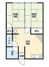 福岡県北九州市門司区松崎町の賃貸アパートの間取り