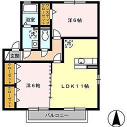 グリースハイムII[2階]の間取り