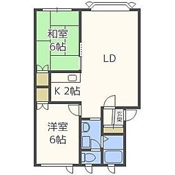 サジタリアマンション[2階]の間取り