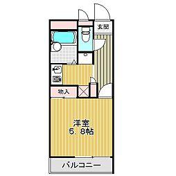愛知県名古屋市中川区法華西町3の賃貸アパートの間取り