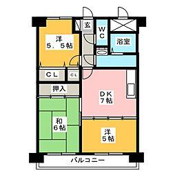 ロワールマンション箱崎II[10階]の間取り