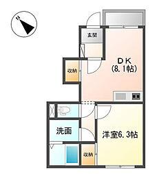 コンフォートナナ[1階]の間取り