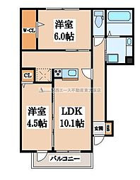 メゾンド・和[1階]の間取り