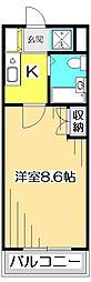 東京都小平市上水南町2丁目の賃貸マンションの間取り