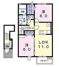 メゾン・ド・レネット II[2階]の間取り