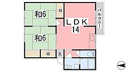 兵庫県姫路市網干区垣内南町の賃貸アパートの間取り