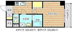 新築コートドール高槻[6階]の間取り