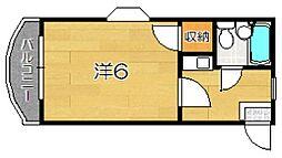マハロハイツ[302号室]の間取り
