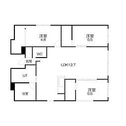 フェリス円山[3階]の間取り