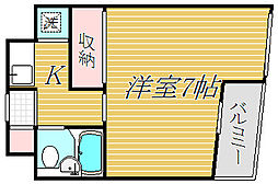 東京都目黒区碑文谷6丁目の賃貸マンションの間取り