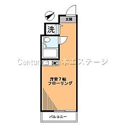 東京都品川区旗の台1丁目の賃貸マンションの間取り