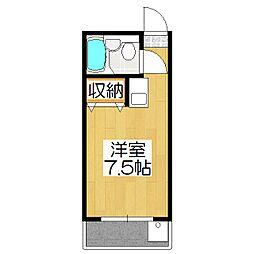 りぶ京都北大路[403号室]の間取り