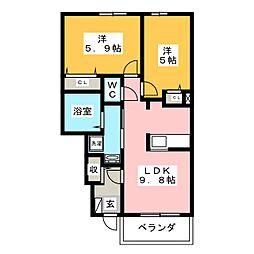 セレーノ 木の宮[1階]の間取り