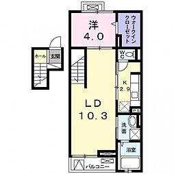 クレメントハウス[4階]の間取り