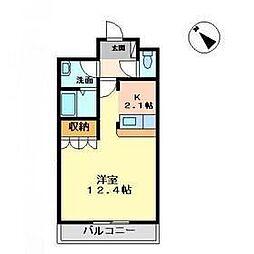 ロイヤルフォート新井田[105号室]の間取り