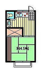 アパート三景[202号室]の間取り
