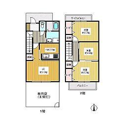ミュージアタウン木太B[1階]の間取り