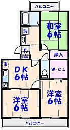 グリーンハイツ本八幡壱番館[103号室]の間取り
