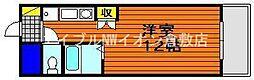 岡山県倉敷市下庄の賃貸マンションの間取り