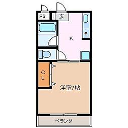 パインフィールドIII[1階]の間取り