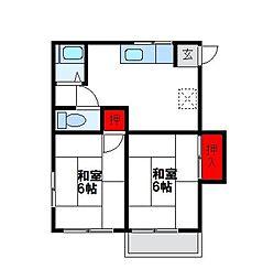 メゾン福間[2階]の間取り