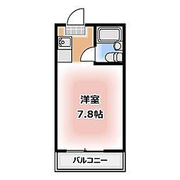 シャンポール松本[303号室]の間取り