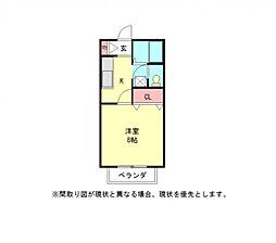 愛知県小牧市久保一色南2丁目の賃貸アパートの間取り
