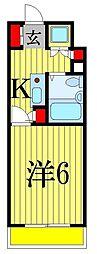 クリスタル津田沼パート1[2階]の間取り