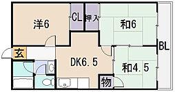桜ヶ丘レジデンス[1階]の間取り