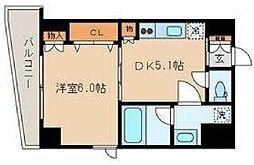 東京メトロ銀座線 稲荷町駅 徒歩4分の賃貸マンション 3階1DKの間取り