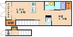 仮称)仲原新築アパート[2階]の間取り