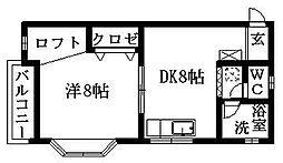 サンコート三方原I[201号室]の間取り