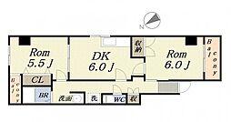 カサベルデ[2階]の間取り