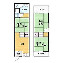 [一戸建] 大阪府大東市泉町1丁目 の賃貸【/】の間取り