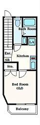 b CASA kodaira[2階]の間取り