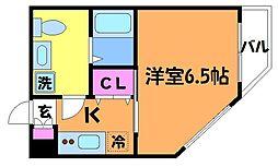 ルーブル調布弐番館[1階]の間取り