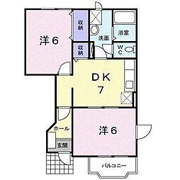 サワーメゾンB[1階]の間取り