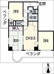 メゾンエトワール[2階]の間取り