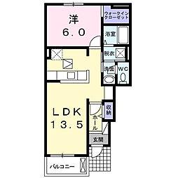 東急こどもの国線 恩田駅 徒歩13分の賃貸アパート 1階1LDKの間取り