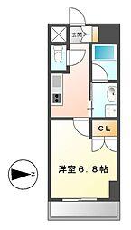 レジディア鶴舞[11階]の間取り