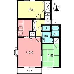 メゾン白井D[1階]の間取り
