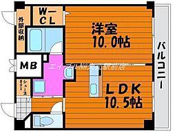 田町ガーデンハイツ[6階]の間取り