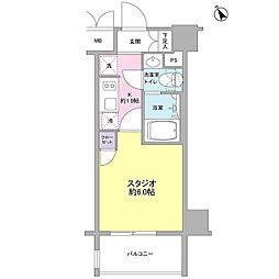 東京メトロ丸ノ内線 後楽園駅 徒歩6分の賃貸マンション 6階1Kの間取り