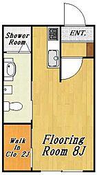 クレール4[1階]の間取り