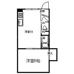 第31松井ビル[4階]の間取り
