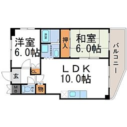 エレガンス松本2号館[4階]の間取り