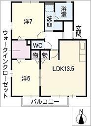 CON FIANCE[1階]の間取り