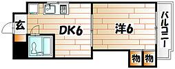 VIP浅野[4階]の間取り