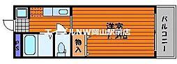 岡山県岡山市北区東古松南町の賃貸アパートの間取り